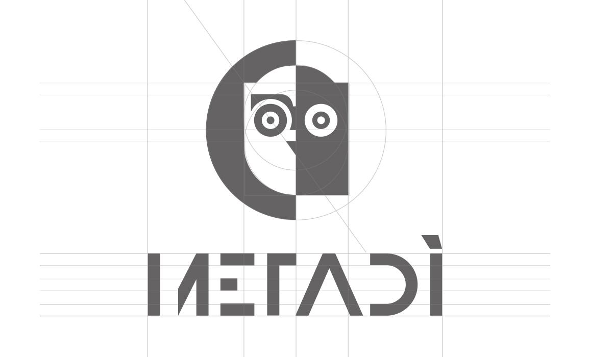 Metadì. Logotipo, Vettori e linee di costruzione.