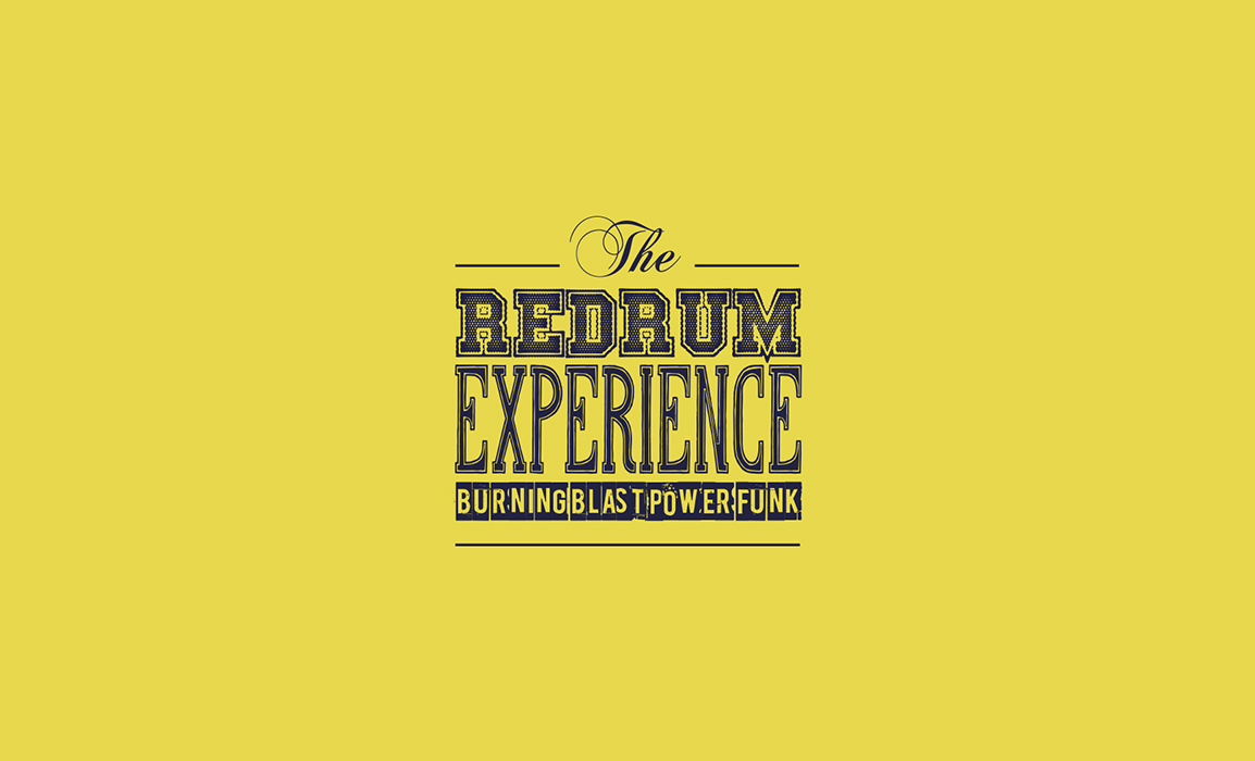 The Redrum Experience. Studio del logotipo.