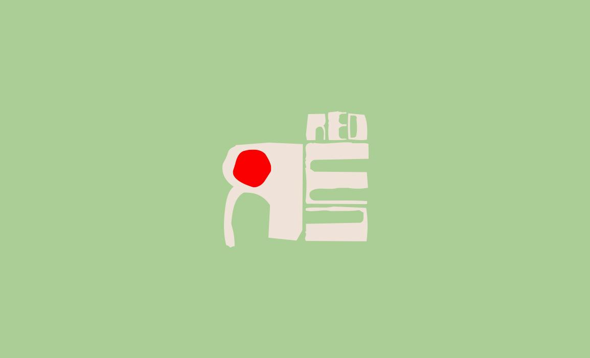 Redrum. Studio del logotipo, scomposizione della parola e ricerca stilistica.