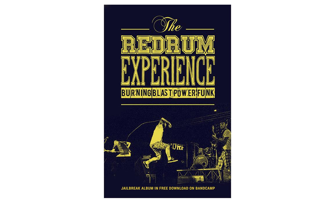 The Redrum Experience. Studio della locandina per la promozione dell'album.
