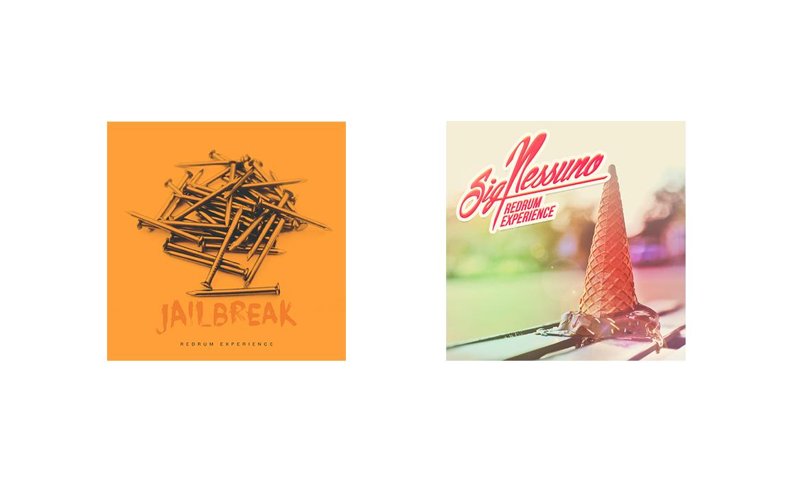 The Redrum Experience. Cover e impaginato grafico per l'album del gruppo.