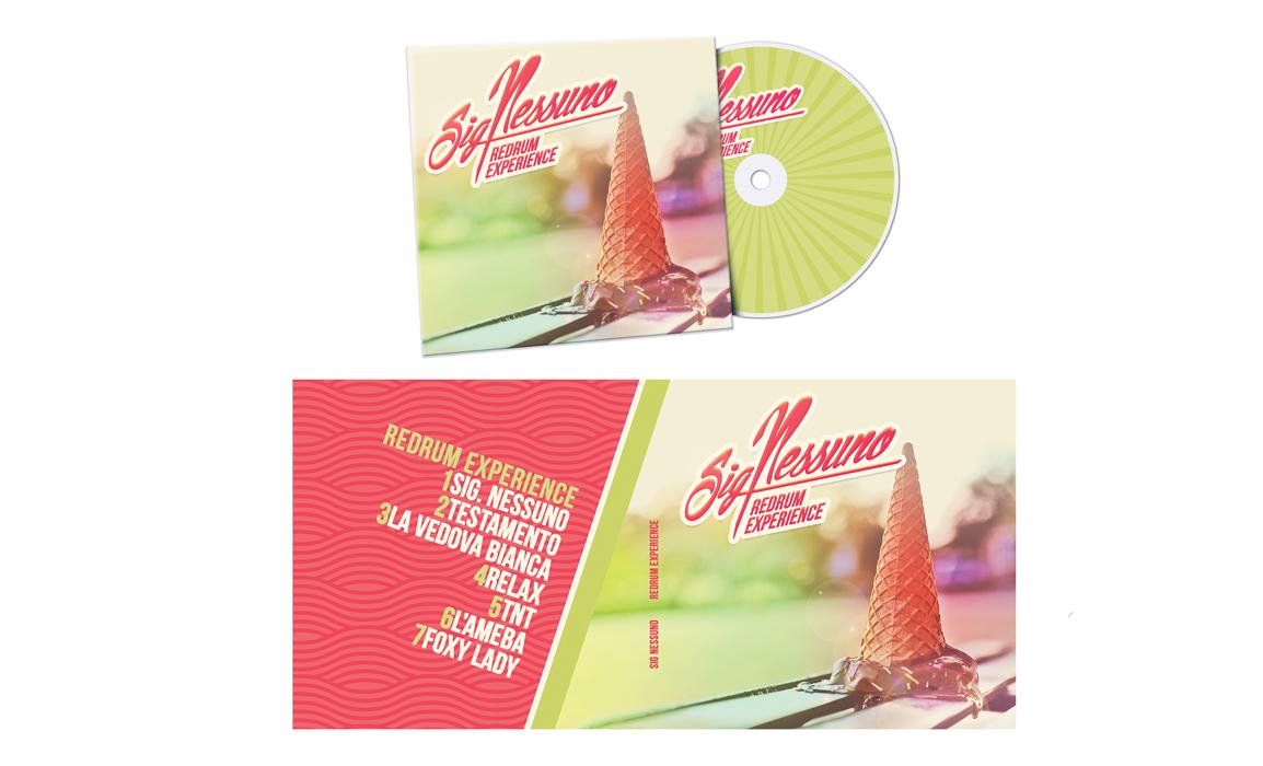 Album Sign. Nessuno. Cover e impaginato grafico interno e esterno.