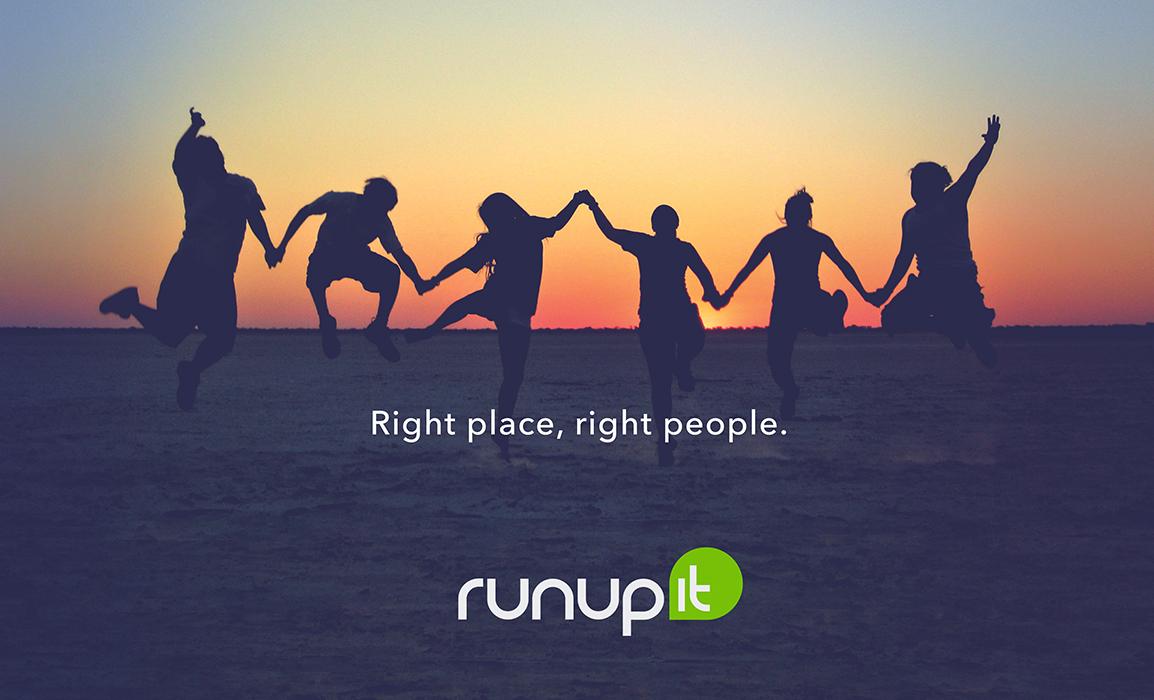 Runup. Progettazione di un manifesto per la prima campagna pubblicitaria per il lancio della startup.