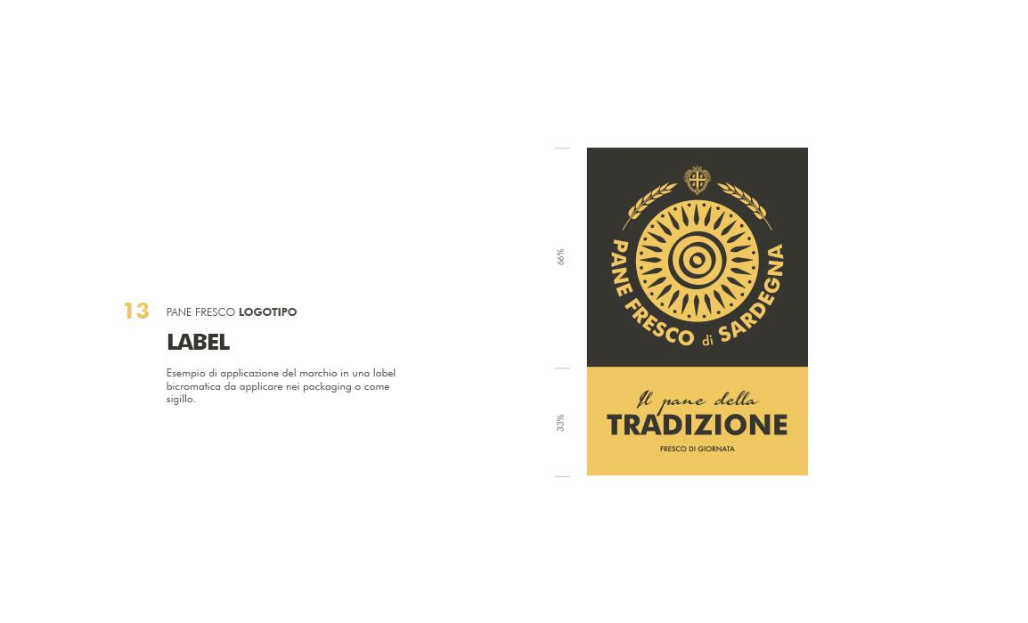 Etichetta per il packaging. Elaborato per il bando regio sulla creazione di un marchio per la tutela del pane fresco di Sardegna.