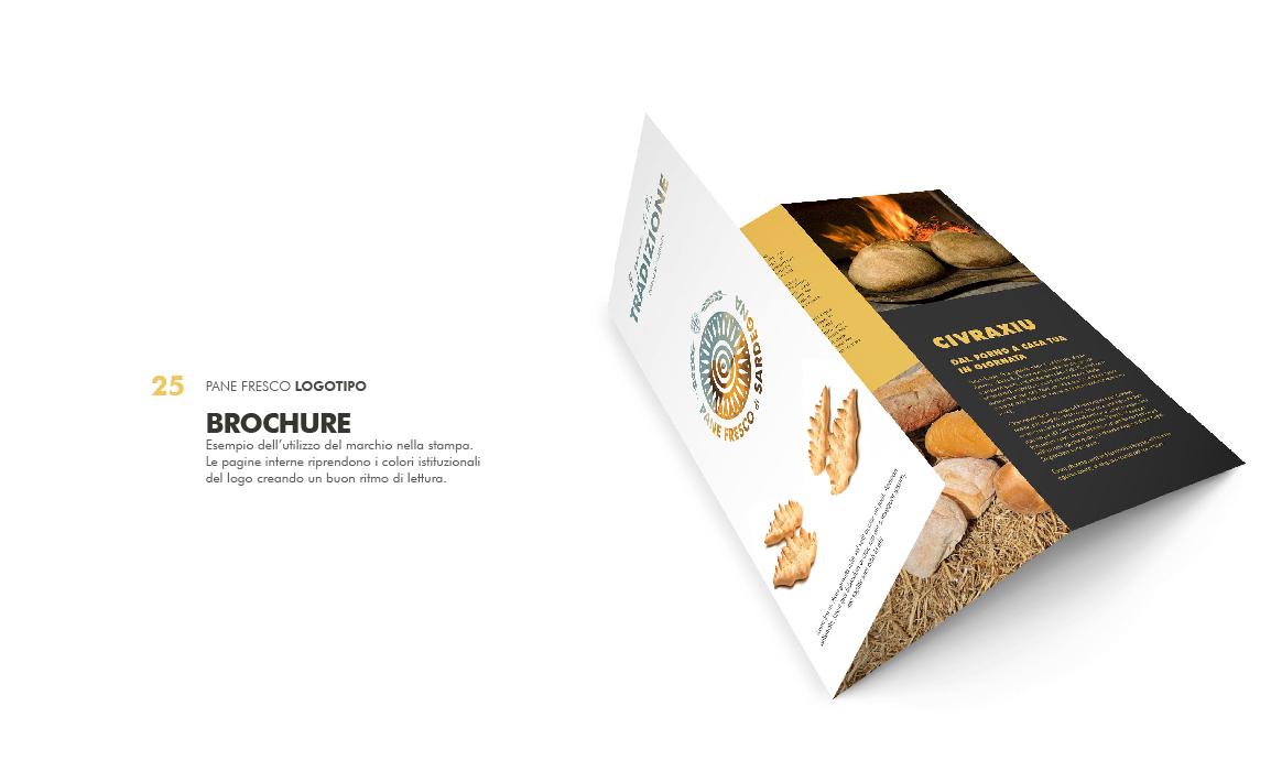 Esempio di brochure informativa. Elaborato per il bando regio sulla creazione di un marchio per la tutela del pane fresco di Sardegna.