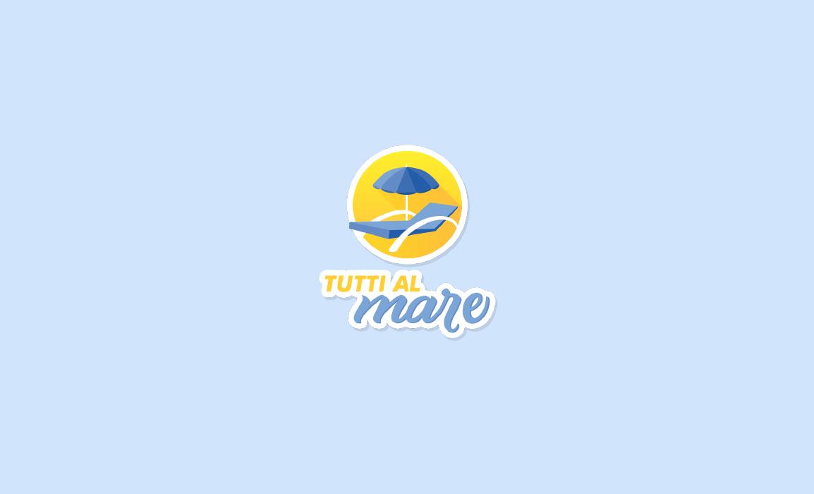Il logo rappresenta uno sdraio e un ombrellone . Il cercio in cui sono iscritti rappresenta il sole. Nella tipografia si può dedurre il riferimento alla spiaggia (con un font sans serif) e al mare (con un font hand writted). I colori richiamano il giallo caldo del sole e della spiaggia e l'azzurro fresco del mare.