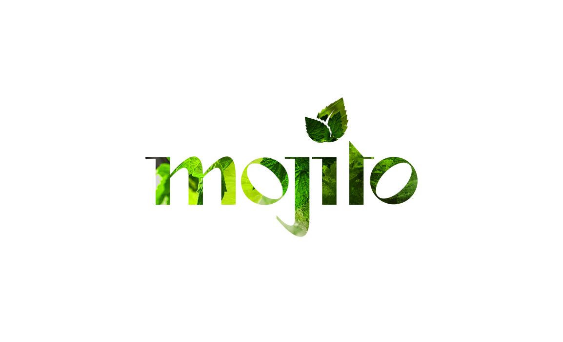 Mojito Cocktail Bar. Old Stones Design, proposta alternativa del logo per il Mojito Cocktail Bar di Cagliari (versione su sfondo bianco).