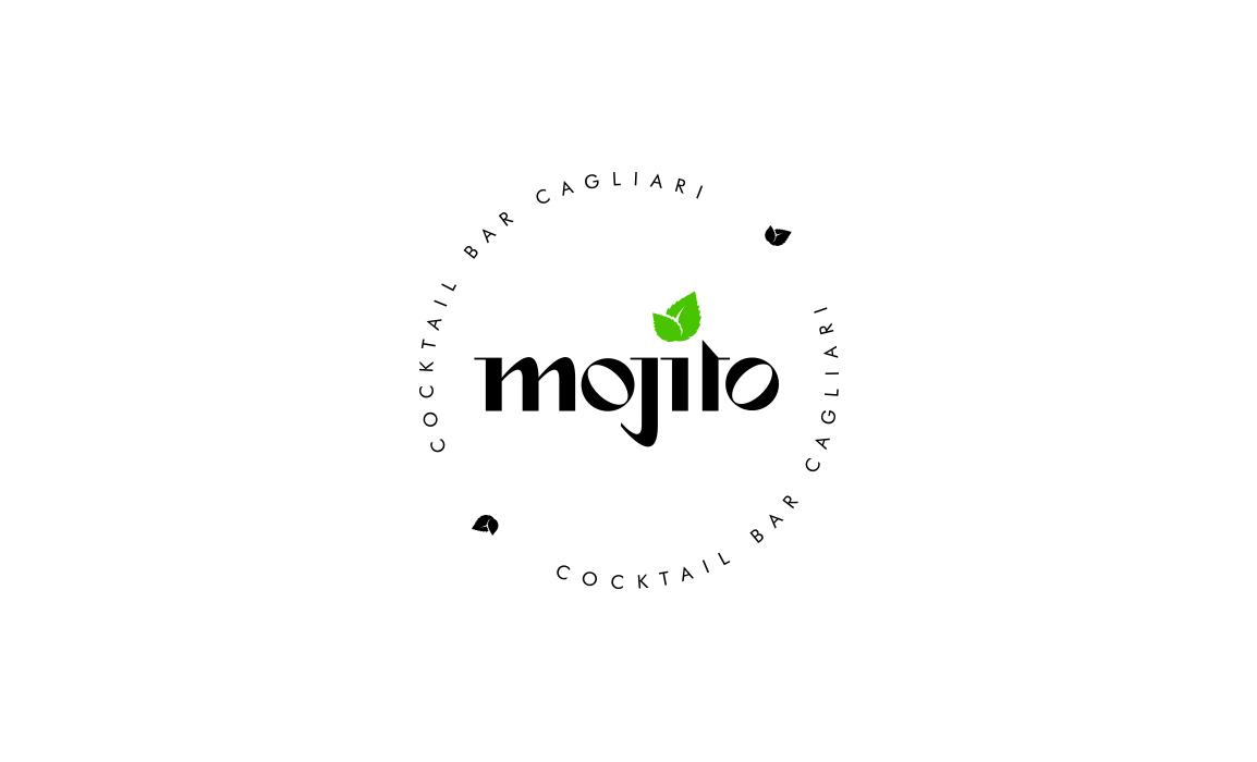 Mojito Cocktail Bar. Old Stones Design, proposta alternativa del logo per il Mojito Cocktail Bar di Cagliari (versione con payoff).