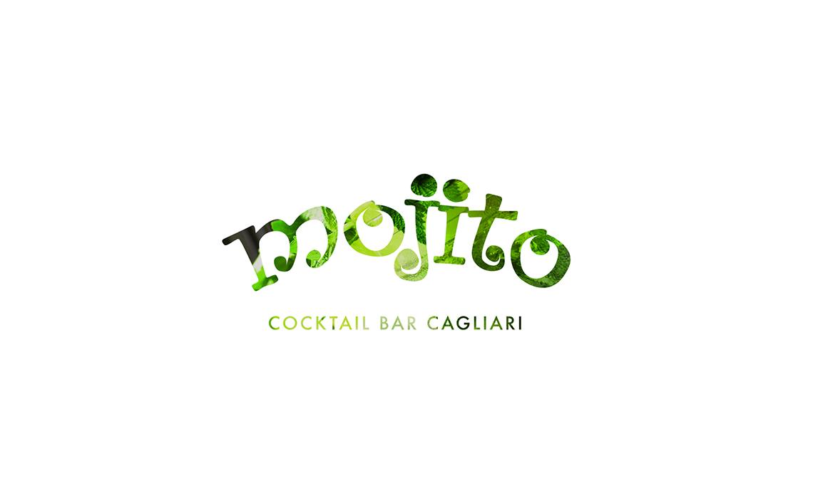 Restyling logo Mojito. Old Stones Design, restyling del logo storico del Mojito Cocktail Bar di Cagliari (versione con maschera).