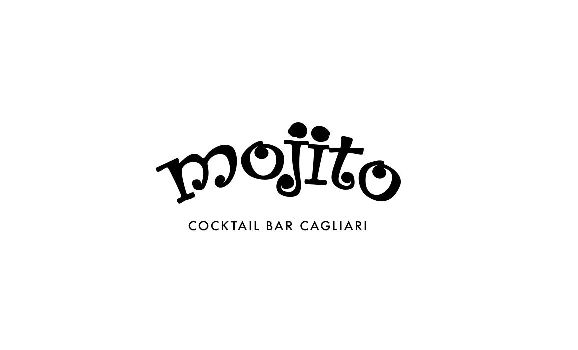 Restyling logo Mojito. Old Stones Design, restyling del logo storico del Mojito Cocktail Bar di Cagliari (versione con payoff).