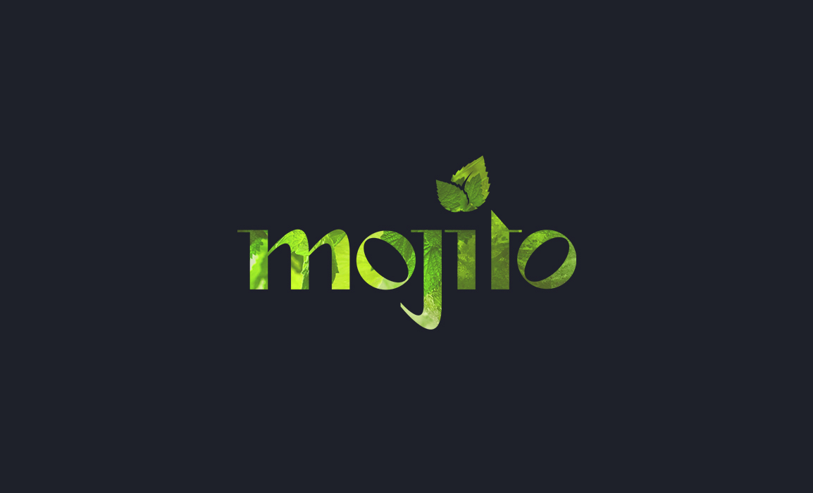 Mojito Cocktail Bar. Old Stones Design, proposta alternativa del logo per il Mojito Cocktail Bar di Cagliari