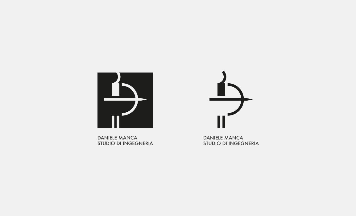 Daniele Manca Studio, prove di impaginazione in positivo e in negativo.