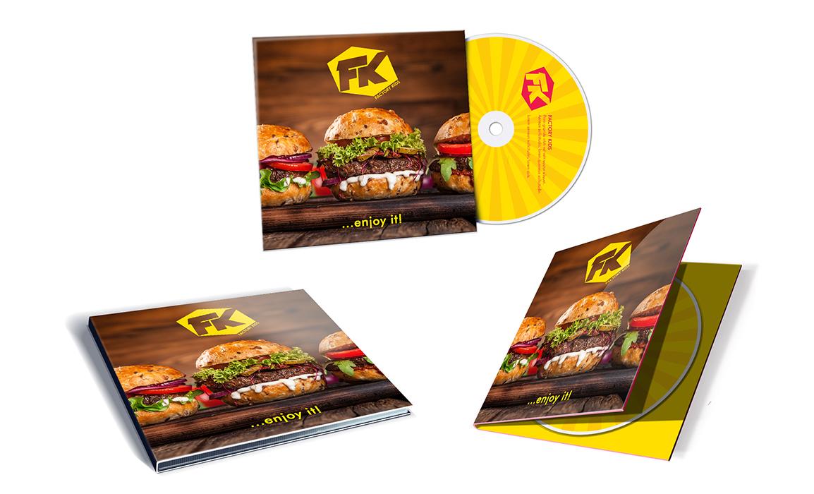 Cover di un CD-Room. Esempio di una cover per un album. Mockup della cover esterna e interna.