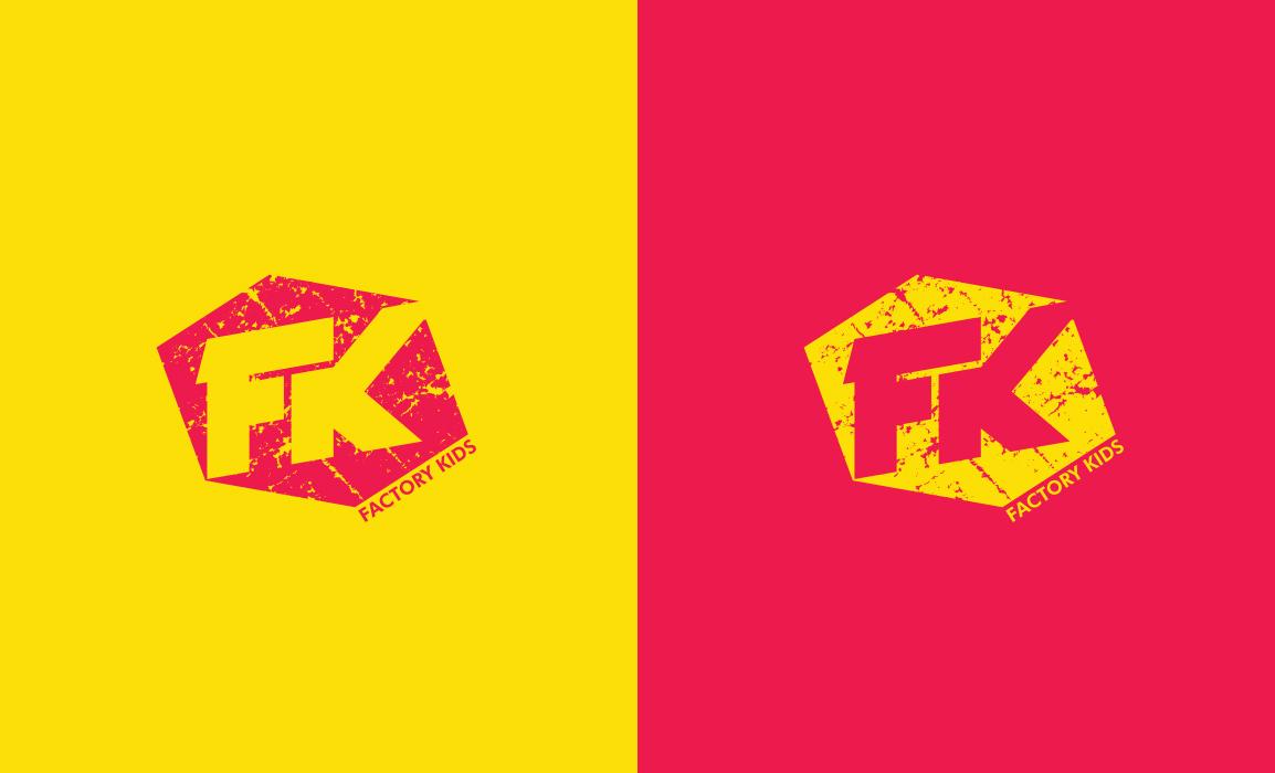 Prove cromatiche del logo. Logo con texture vintage.