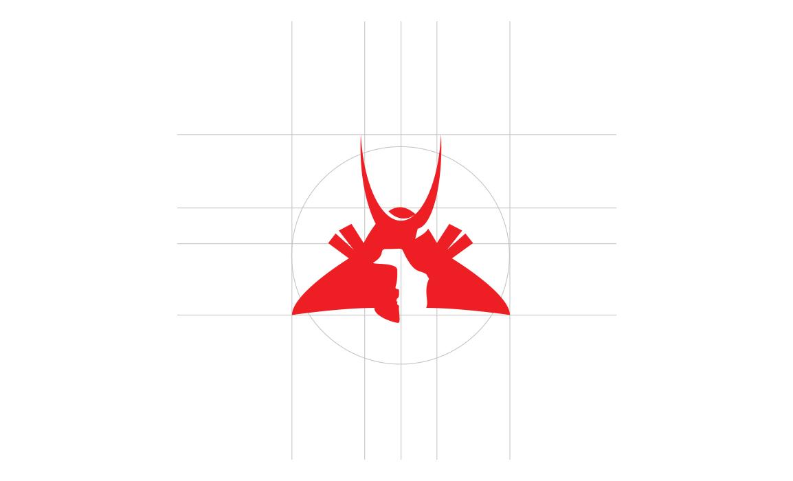 Faetch, logo design. Per lo studio del marchio è stata seguita la golden ratio (proporzione aurea) come richiesto nel brief del progetto.