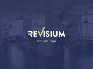 Revisium, Revisione legale. <i>Logo design, applicazione su insegna e banner</i>