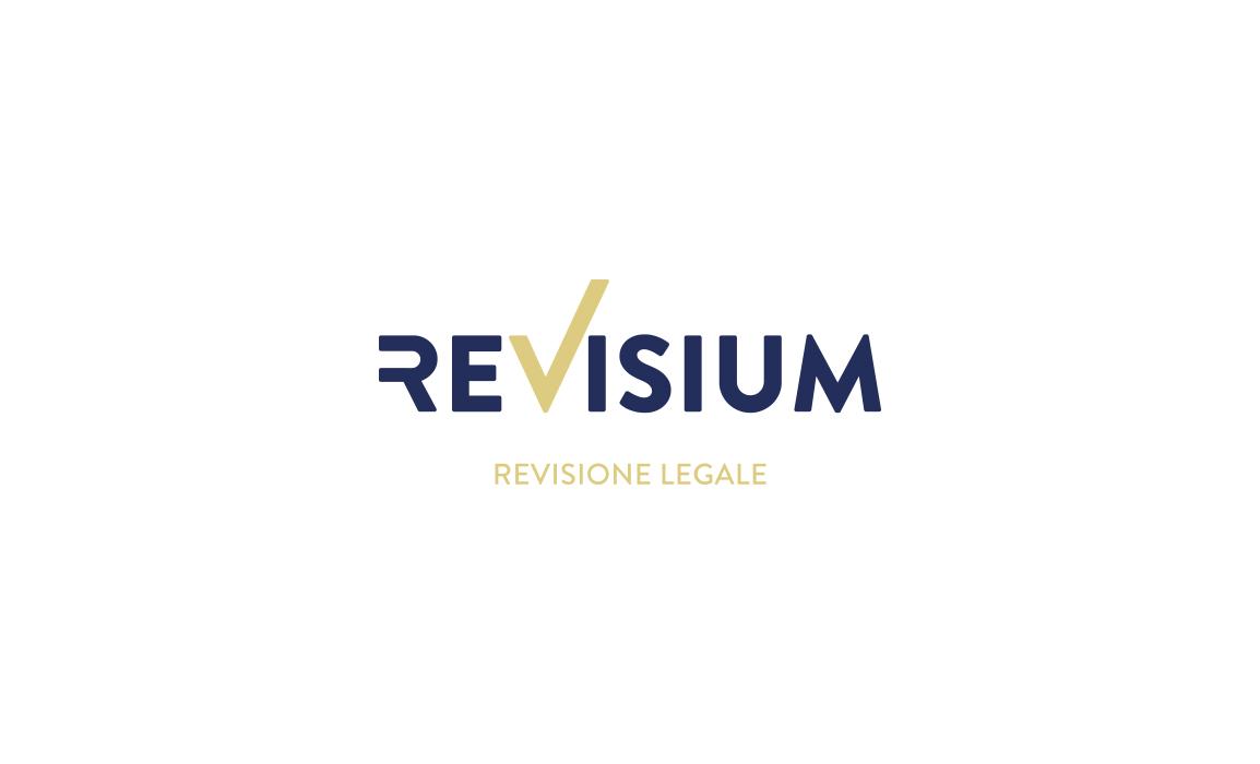 Il logotipo Revisium risulta molto semplice, questo per evocare il concetto di trasparenza e affidabilità richiesto dall'azienda.
