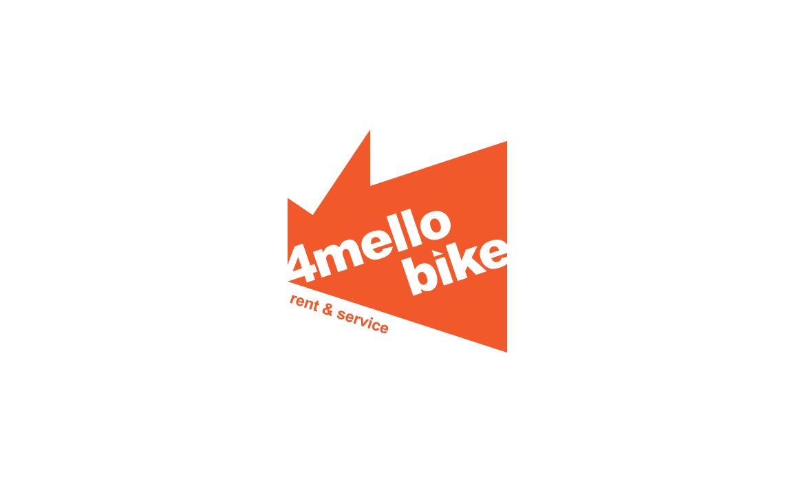 Studio del logotipo per 4mello Bike, fortemente dinamico con un tocco old school.