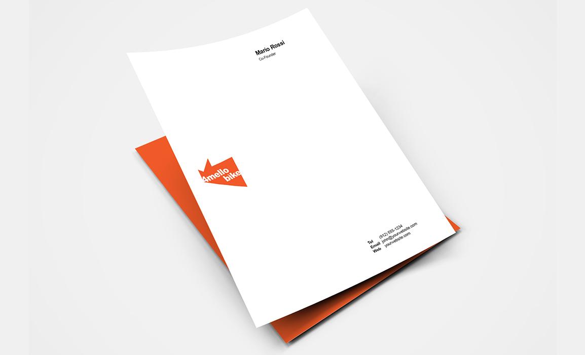 Studio dell'immagine coordinata con applicazione del logo istituzionale. Carta intestata A4.