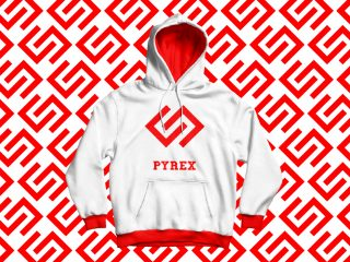 Pyrex, streetwear. <i>Restyling del logo e disegno del marchio</i>