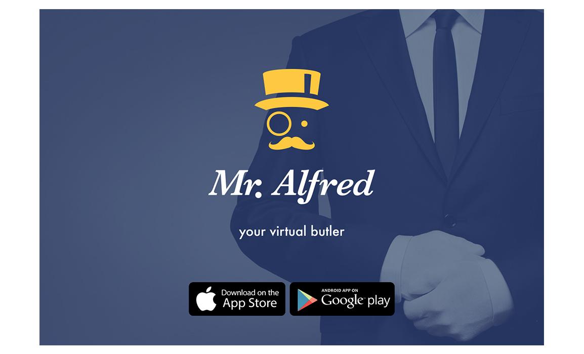 Esempio di comunicazione con il logo, il background pubblicitario e il richiamo ai principali store da cui scaricare l'app.
