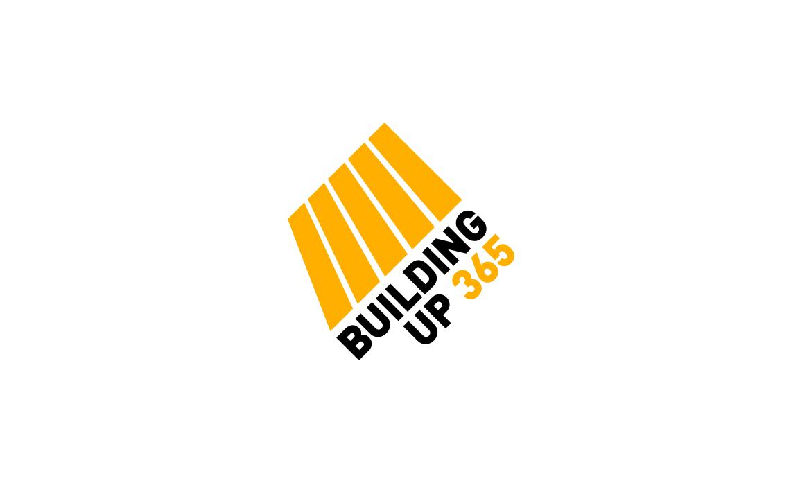 Il significato del logo suggerisce uno sviluppo verticale realizzato graficamente con uno studio prospettico. I colori scelti evocano la segnaletica presente nei cantieri edili.