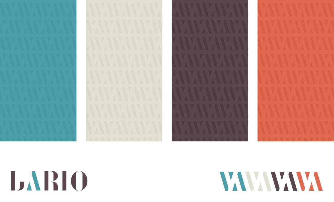 Studio del patter applicato sulla palette cromatica.