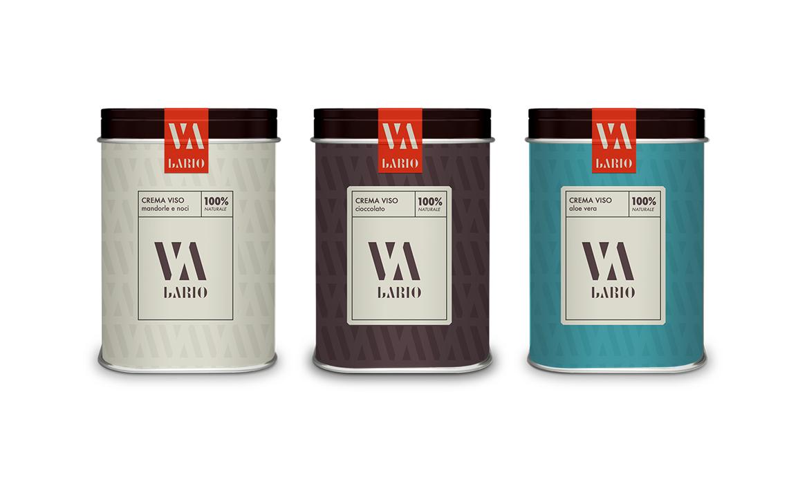 Utilizzo della brand identity nel packaging di prodotti specifici.