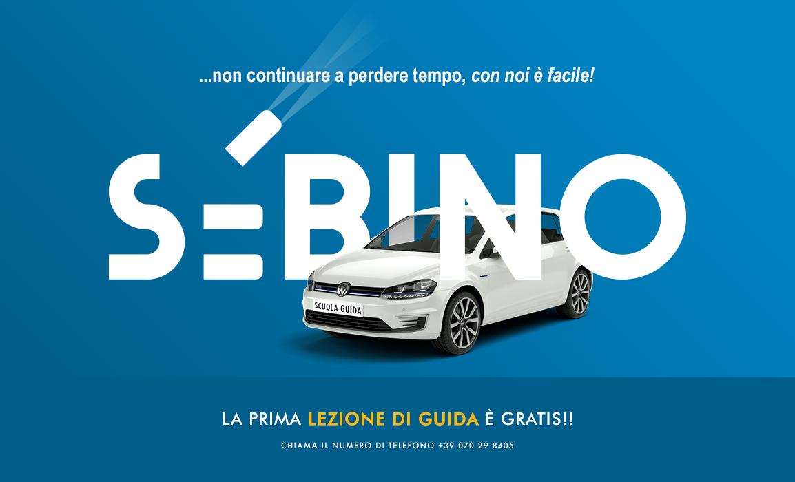Realizzazione grafica di una pubblicità. La comunicazione in questo caso vuole suggerire una falsa profondità del logo grazie a un'auto che ci passa attraverso.