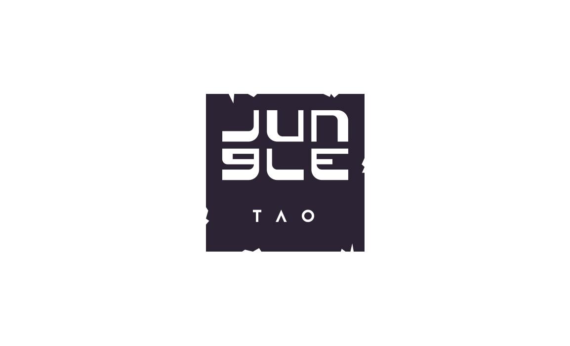 Il logo ha un preconcetto giapponeseggiante che richiama la giungla e al contempo ricorda la griglia che viene utilizzata nel locale, che è un po' il suo marchio di fabbrica