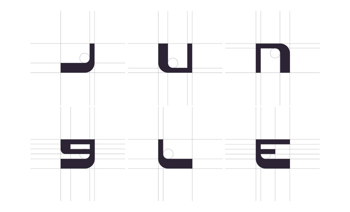 Per la realizzazione del lettering è stato creato un font originale che richiamasse le decorazioni usate nelle città perdute della giungla narrativa. Le linee conservano una naturalezza floreale ma anche una gabbia rigida e squadrata.