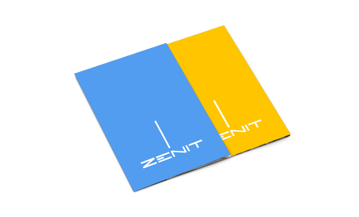 Esempio di impaginazione su un supporto verticale. Il logo sfrutta la sua verticalità nel raporto con lo spazio compositivo.