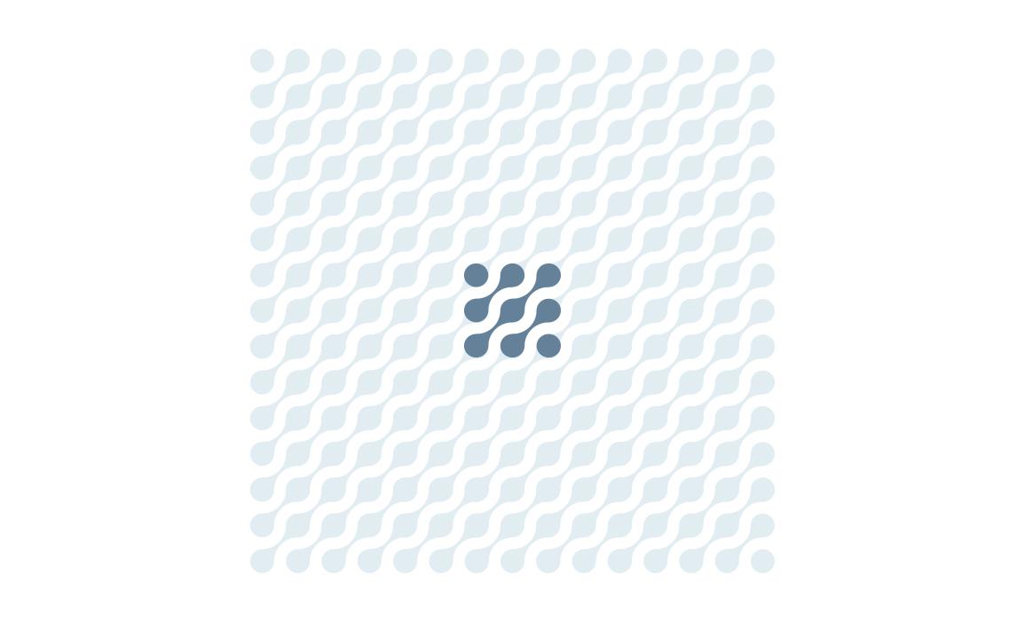 La regolarità del marchio ne permette l'utilizzo come pattern decorativo, utile come elemento rafforzativo nella comunicazione, nel packaging e nei pitch.