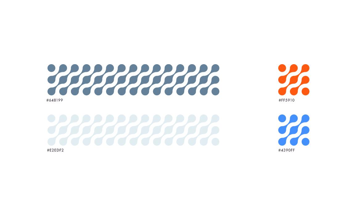 Per la comunicazione sono stati scelti dei pantoni neutri e virati sul blue, più 2 colori accesi per i claim e le call to action.