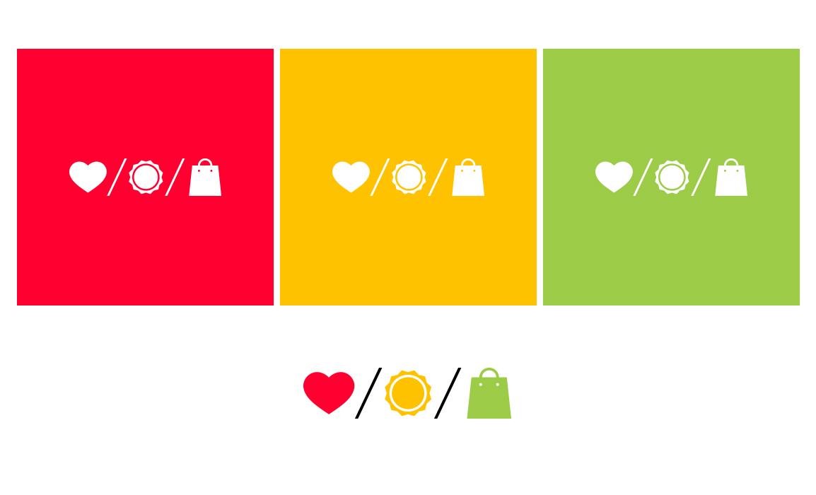 Utilizzo di colori freschi che riprendono la varietà degli intonaci della via e i colori vivaci delle vetrine.