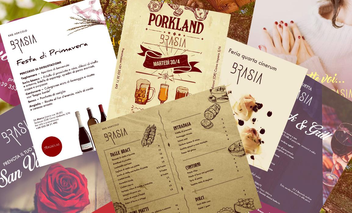 Comunicazione social, pubblicità eventi e realizzazione dei menu.