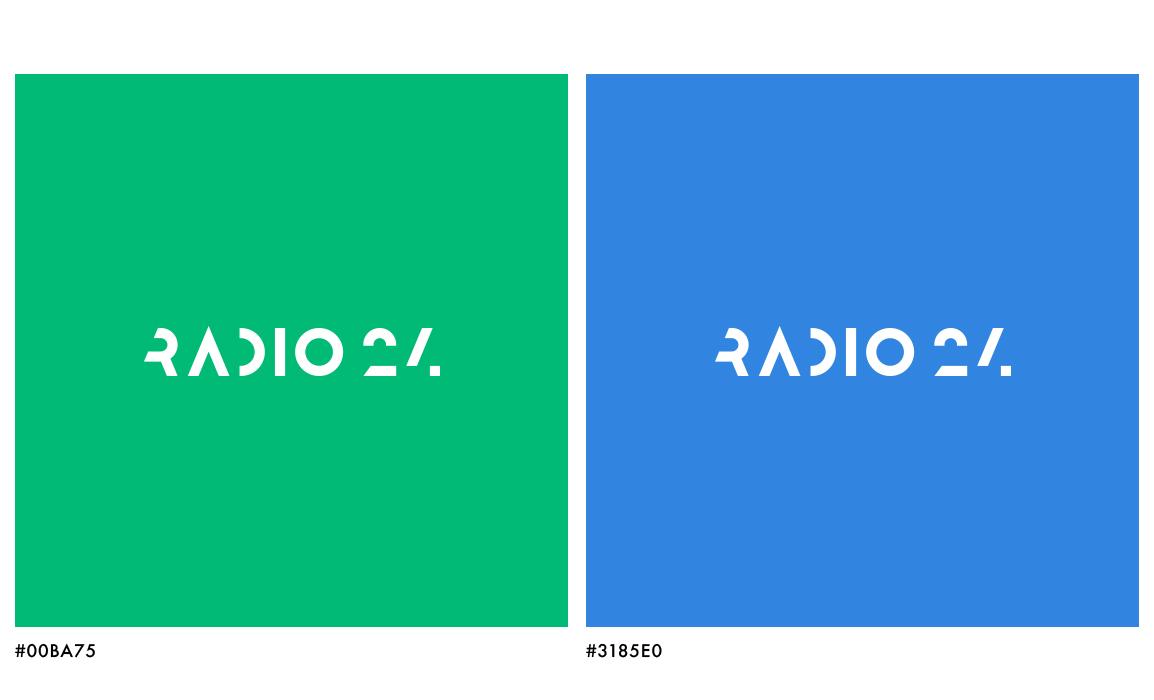 Studio dei colori con predominante del verde, il colore aziendale.