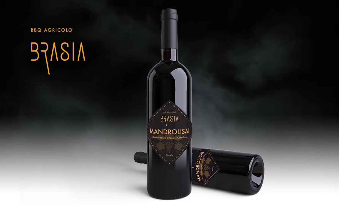 Realizzazione della brand image per t-shirt, gadget, bottiglie di vino etc. con il brand del locale.