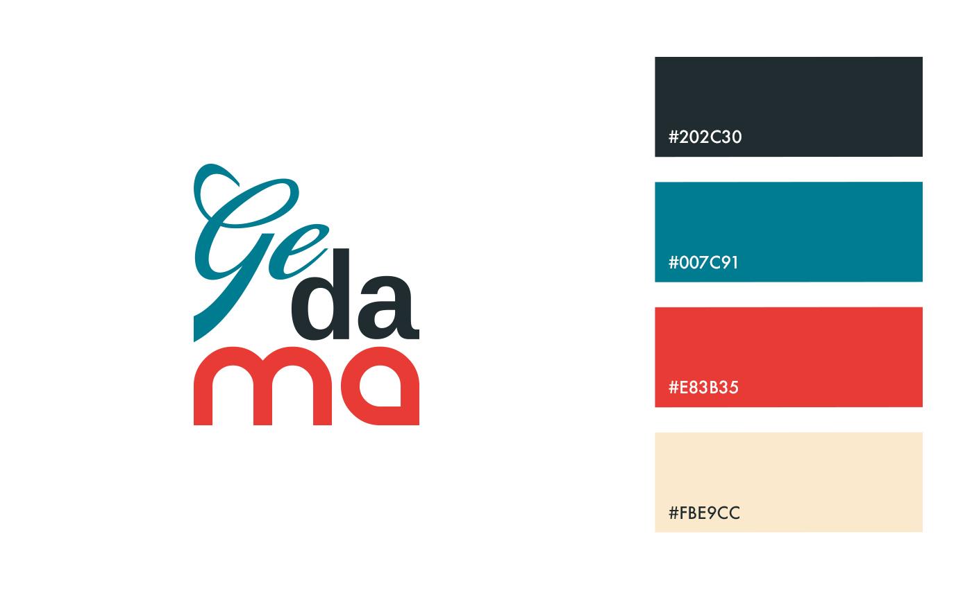 La palette cromatica è una sintesi degli elementi principali del territorio: la natura, la sabbia, il carbone e la terra cotta.