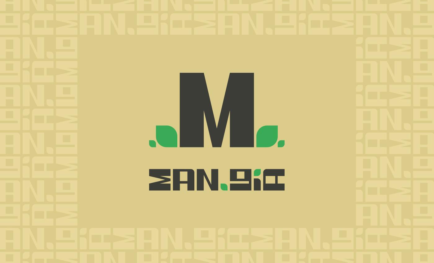 Realizzazione del lettering per un logo in stile industrial e jungle.