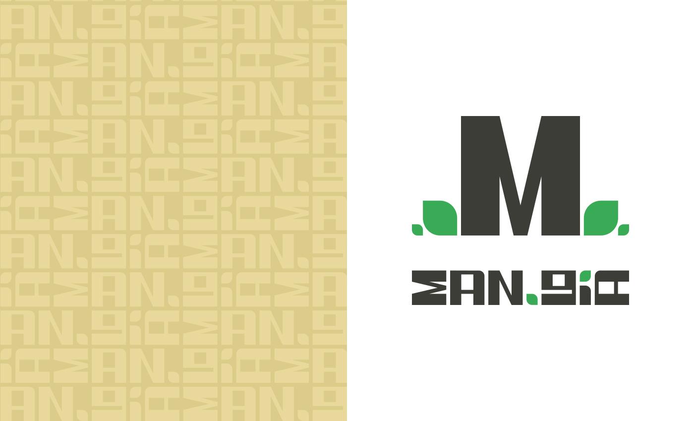 Accostamento del logo e del payoff con il pattern creato.