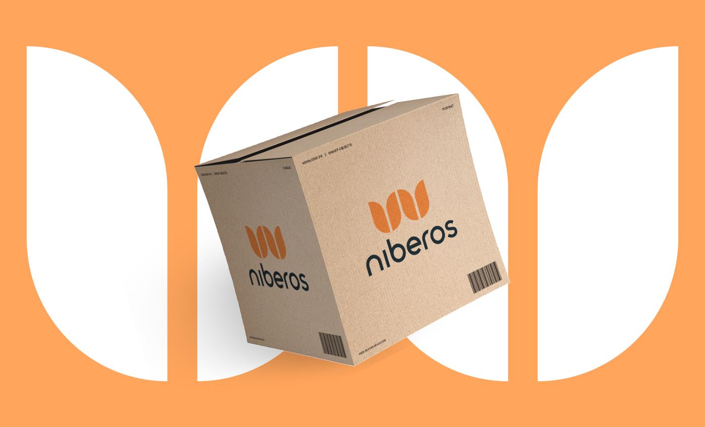 Applicazione del brand su un packaging.