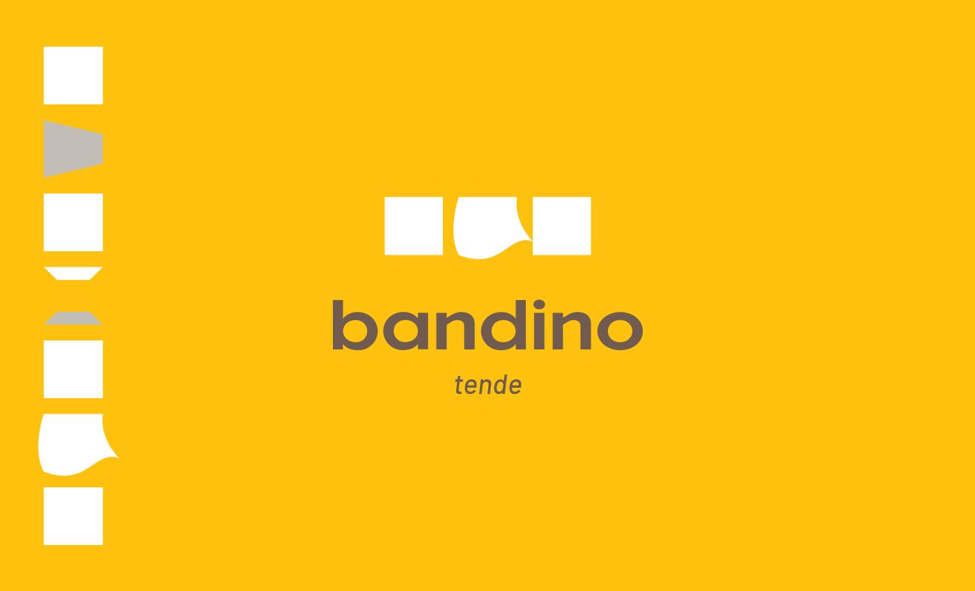 Il concept per Bandino nasce dalla evoluzione di una griglia modulare quadrata.