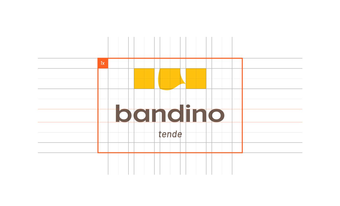 La griglia su cui è costruito il logo parte da un modulo regolare, l'area di rispetto viene così definita dallo stesso.
