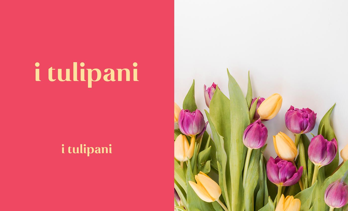 Lo stile elegante è adatto a qualsiasi composizione floreale che l'attività propone rimanendo sempre ben leggibile.