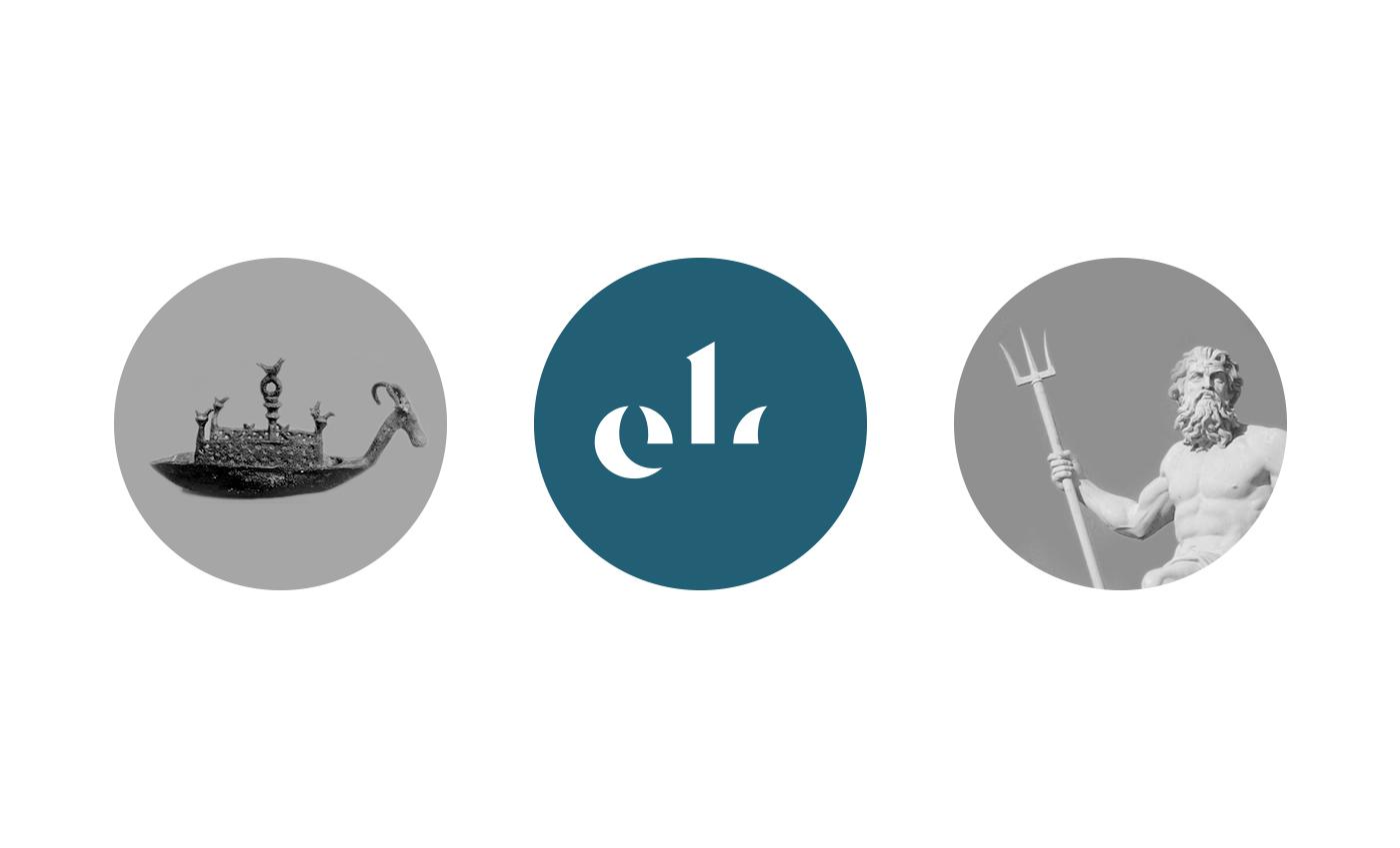Il marchio oltre a ispirarsi alla sinuosità del mare deriva dalla sintesi di una navicella nuragica e dal tridente del dio greco Poseidone (Nettuno per i romani). Il tridente appare quindi immerso nell'acqua così come la navicella.