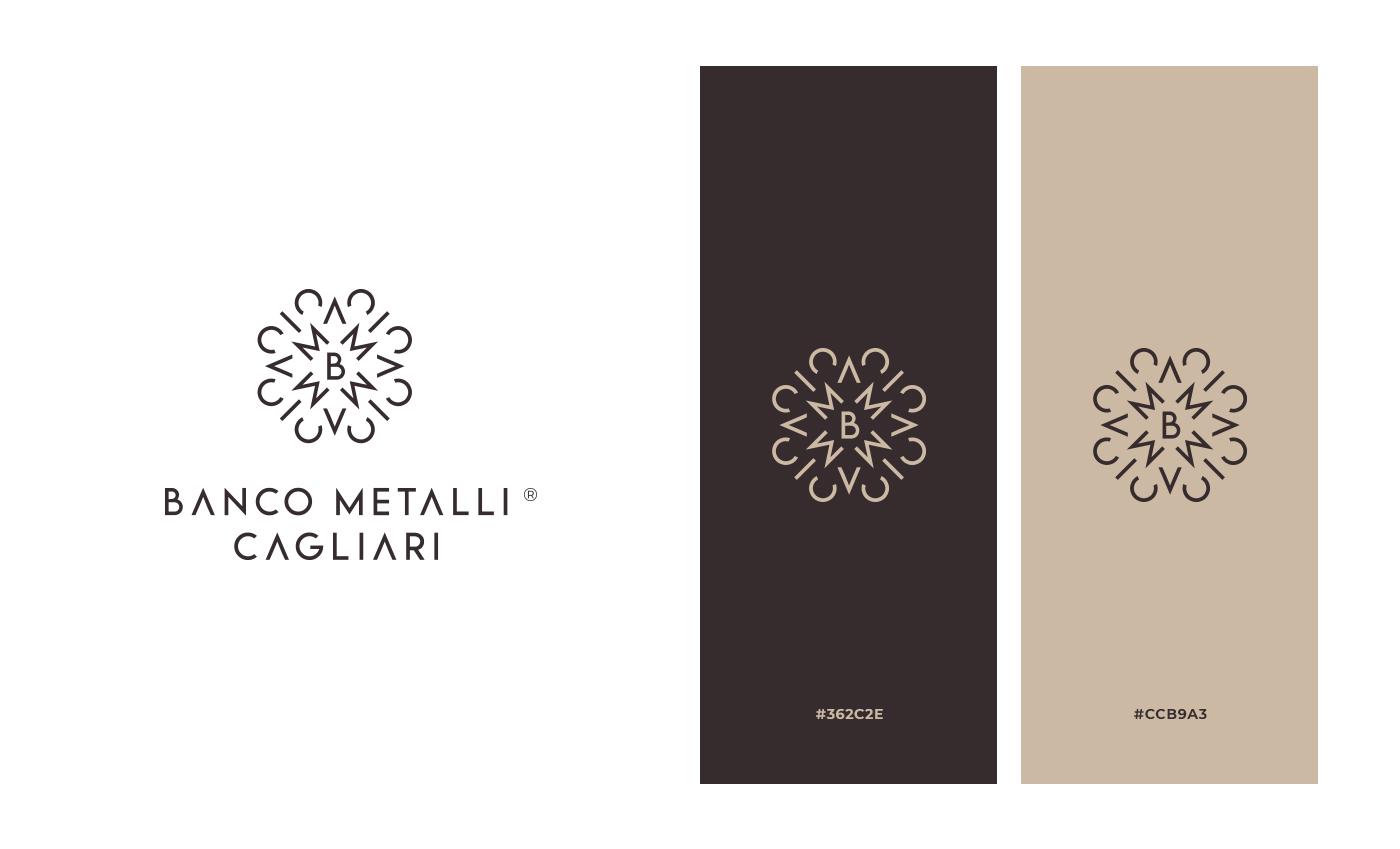 Il logo può essere declinato in una versione con una struttura simmetrica centrale. L'abbinamento cromatico è estremamente improntato sul mondo del lusso.