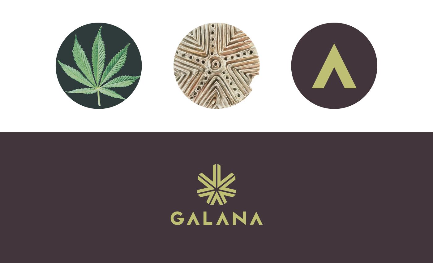Il marchio è una forma regolare a 7 punte (come la foglia di marijuana) ma si ispira alla pintadera sarda, di origine nuragica e utilizzata come timbro nel pane o stemma.
