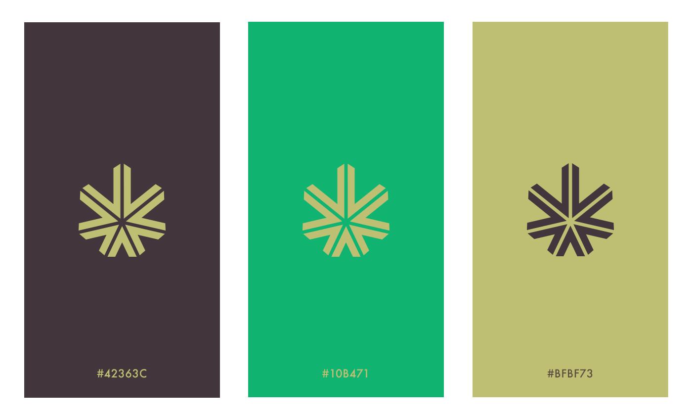 La palette dei colori vuole ispirarsi al modo del tabacco di lusso con l'aggiunta del verde che richiama la canapa.