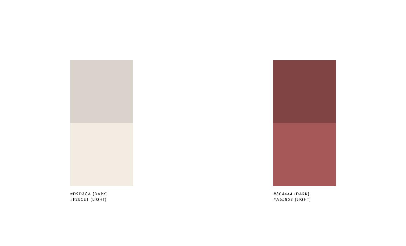 La brand identity si sviluppa sull'accostamento di 2 colori, un color sabbia e un color argilla, che contraddistinguono la composizione del terreno in cui sono presenti le vigne.